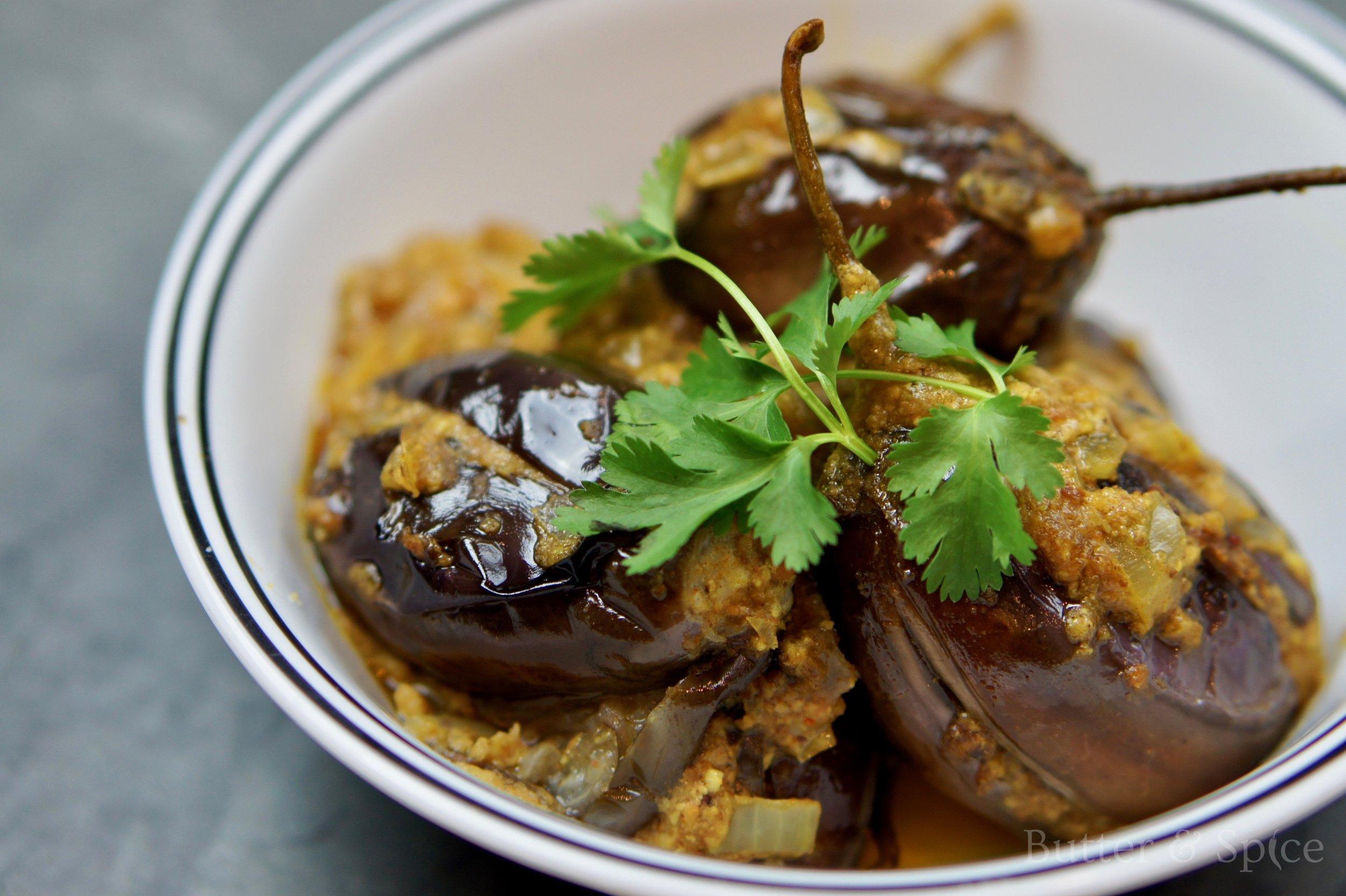 Low Carb Indian Stuffed Eggplants