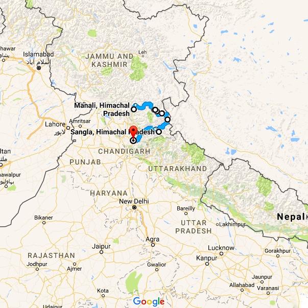 India-Spiti-map
