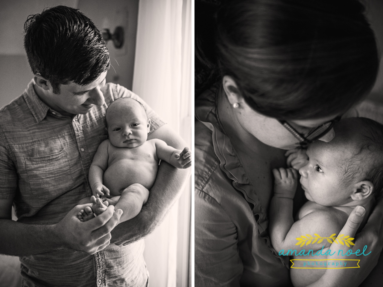 Springfield OH Lifestyle Newborn Photographer | Amanda Noel Photography | baby boy sister in home session
