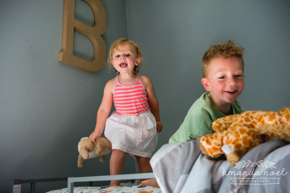 Springfield Documentary Family Photographer | Amanda Noel Photography | Day in the Life B family toddler siblings