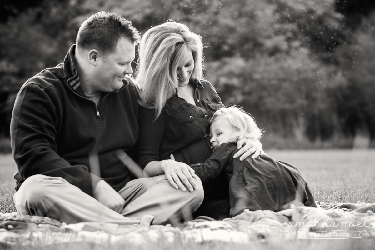 Springfield Lifestyle Maternity Family Photographer | Amanda Noel Photography | sunset maternity session toddler big sister