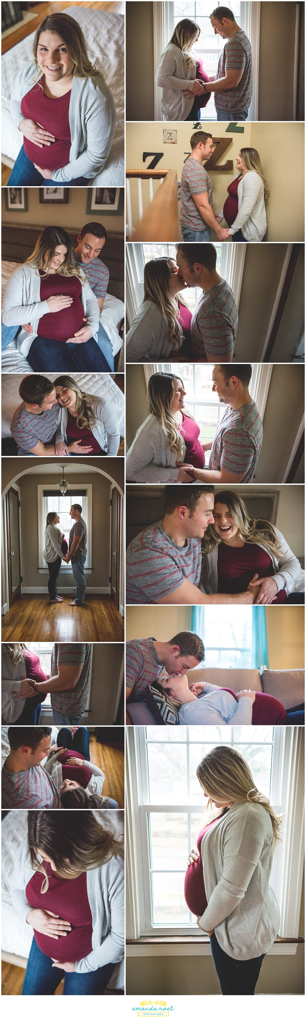 Springfield OH Maternity Photographer | Amanda Noel Photography | in home session