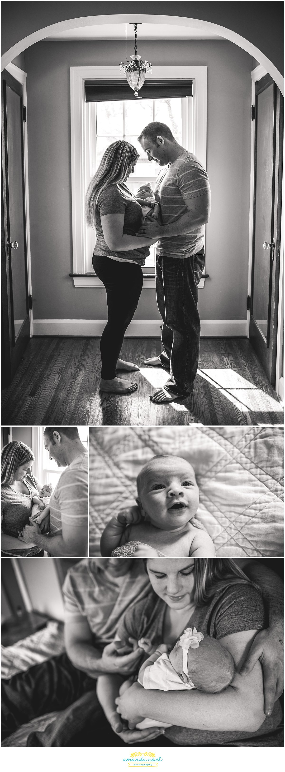 Springfield Ohio in home lifestyle newborn photography baby girl | Amanda Noel Photography