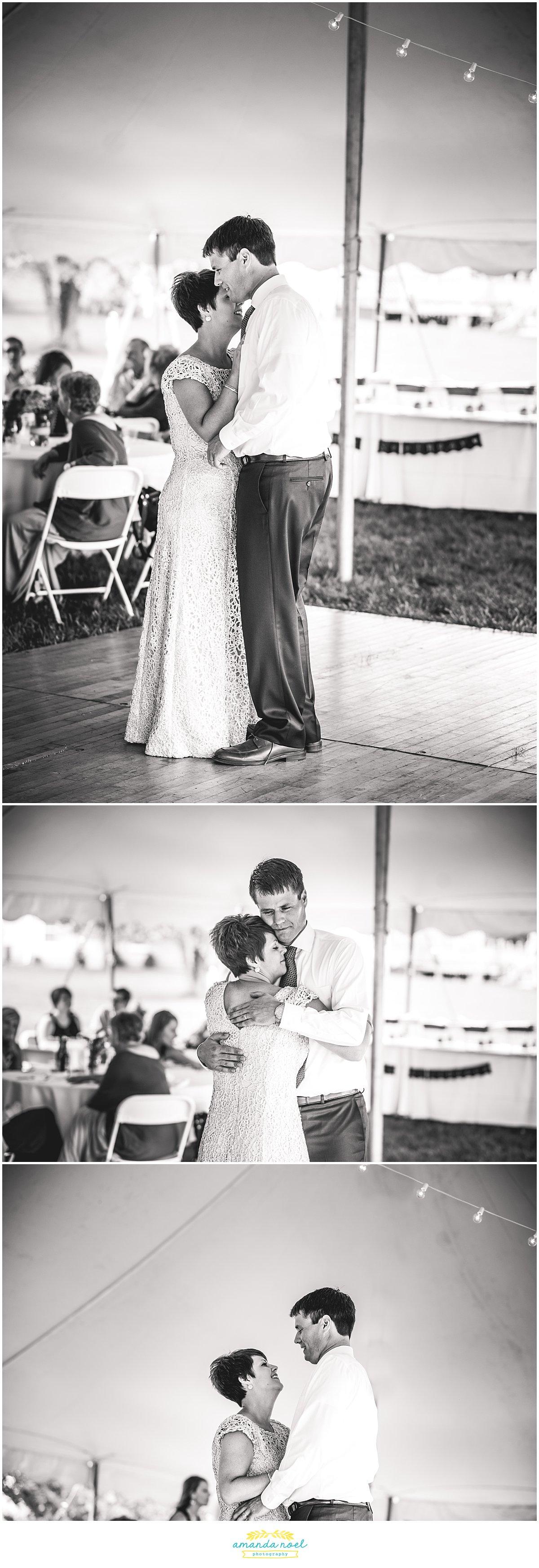 Intimate ohio backyard summer wedding