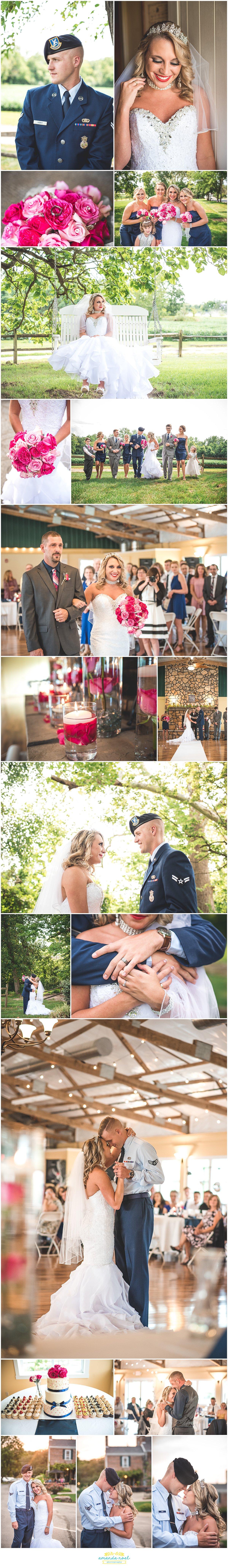 Springfield, Ohio Wedding Photographer - summer wedding at Simon Kenton Inn