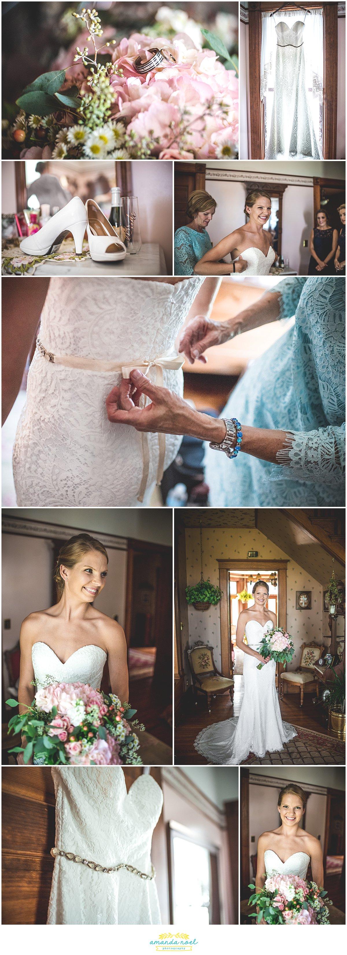 ohio bride getting ready