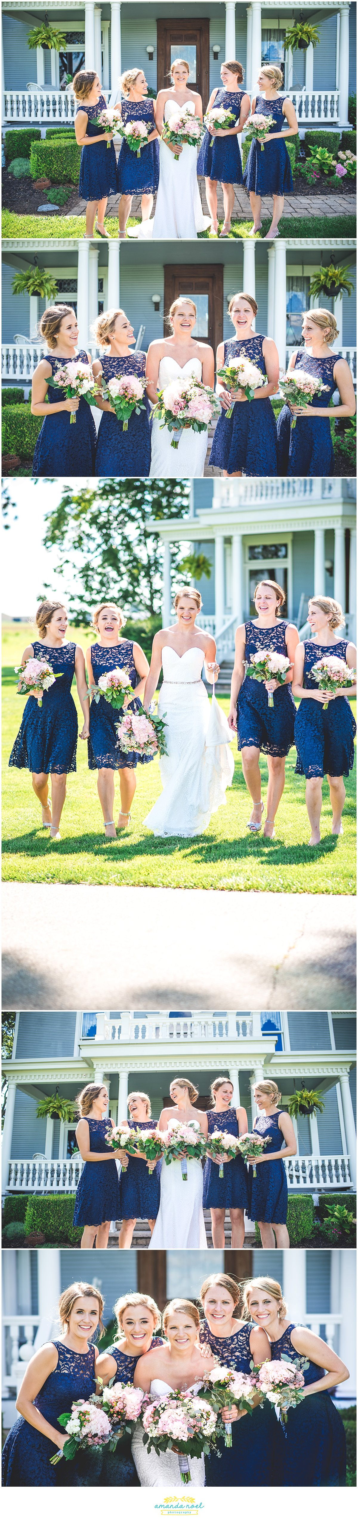 outdoor bridal party portraits