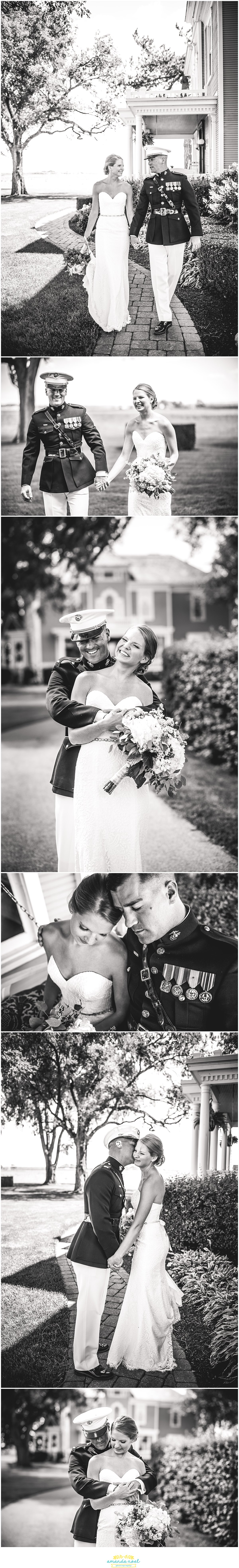 outdoor couple portaits black and white