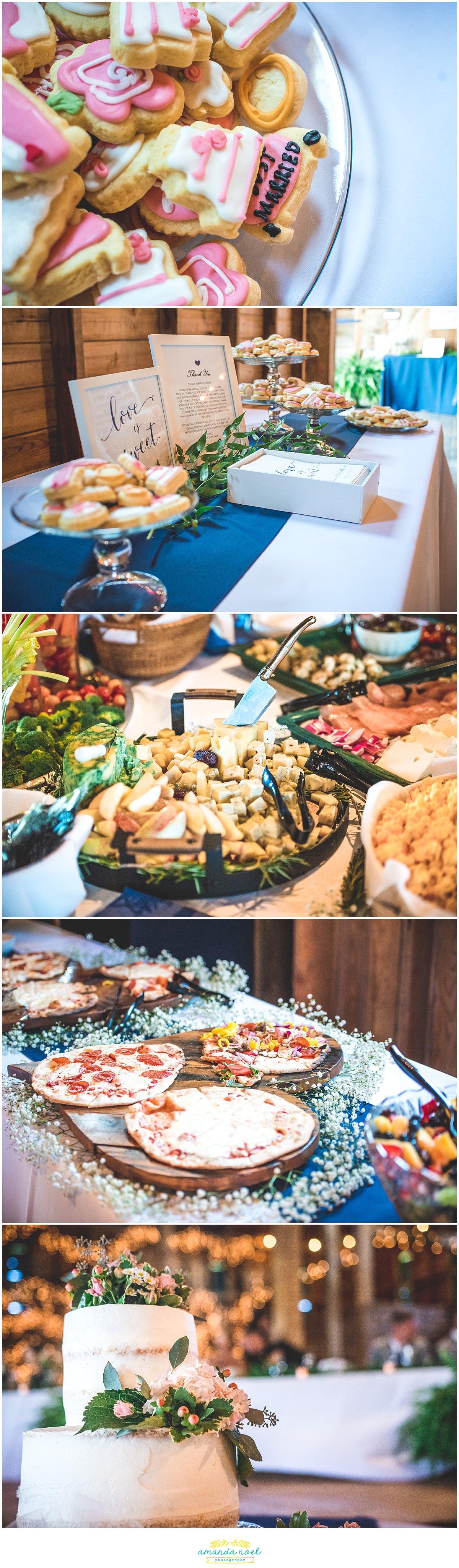 barn wedding reception food