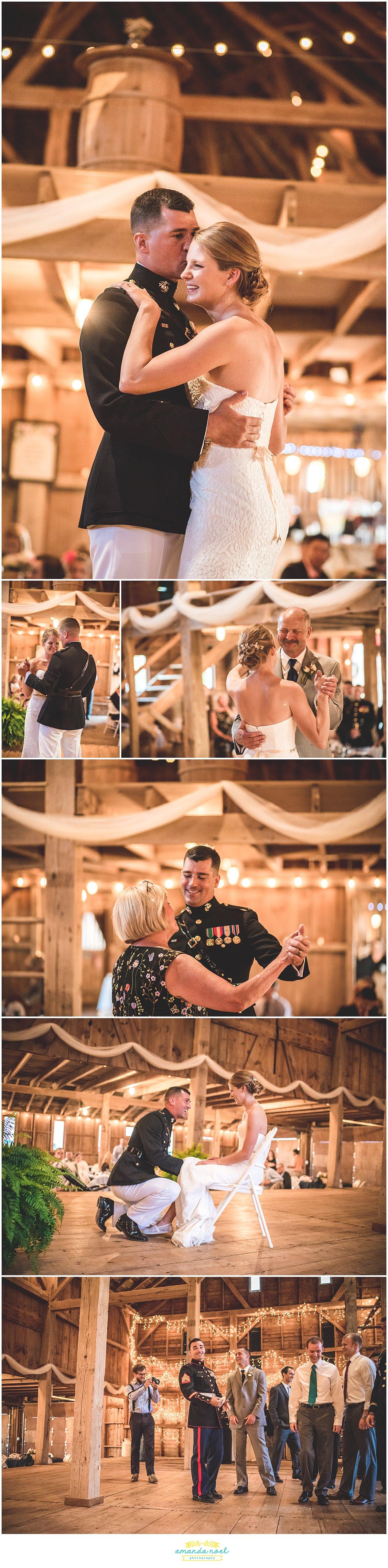first dance in barn