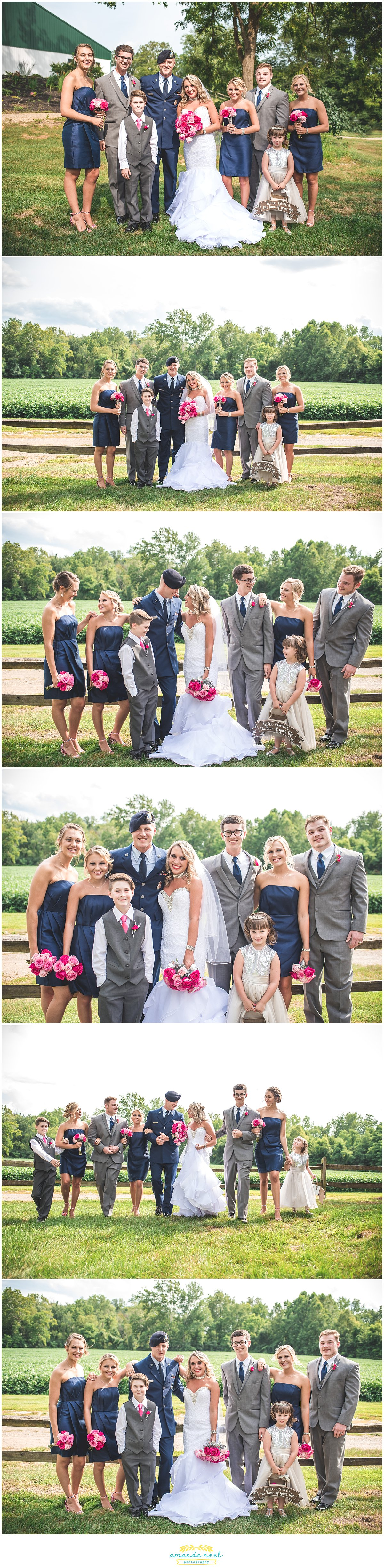 Springfield Ohio wedding party portraits