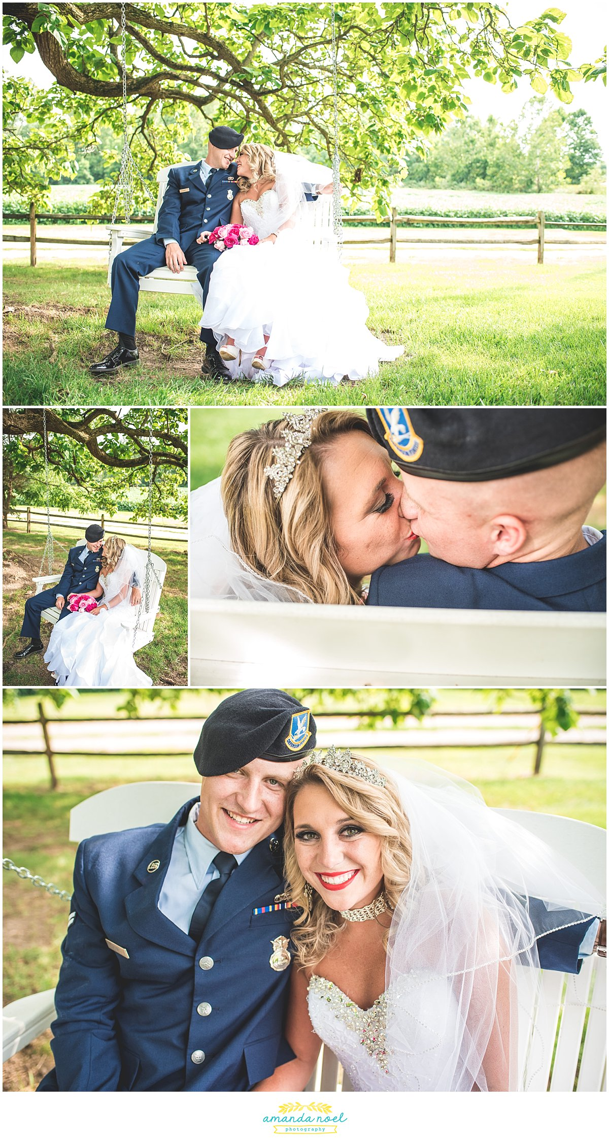 Springfield Ohio wedding outdoor couple portraits