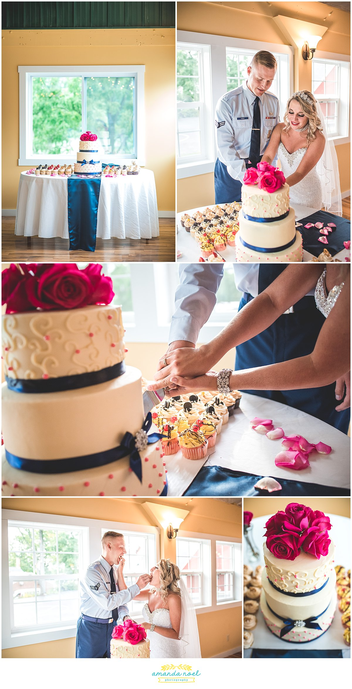 Springfield Ohio wedding cake cutting