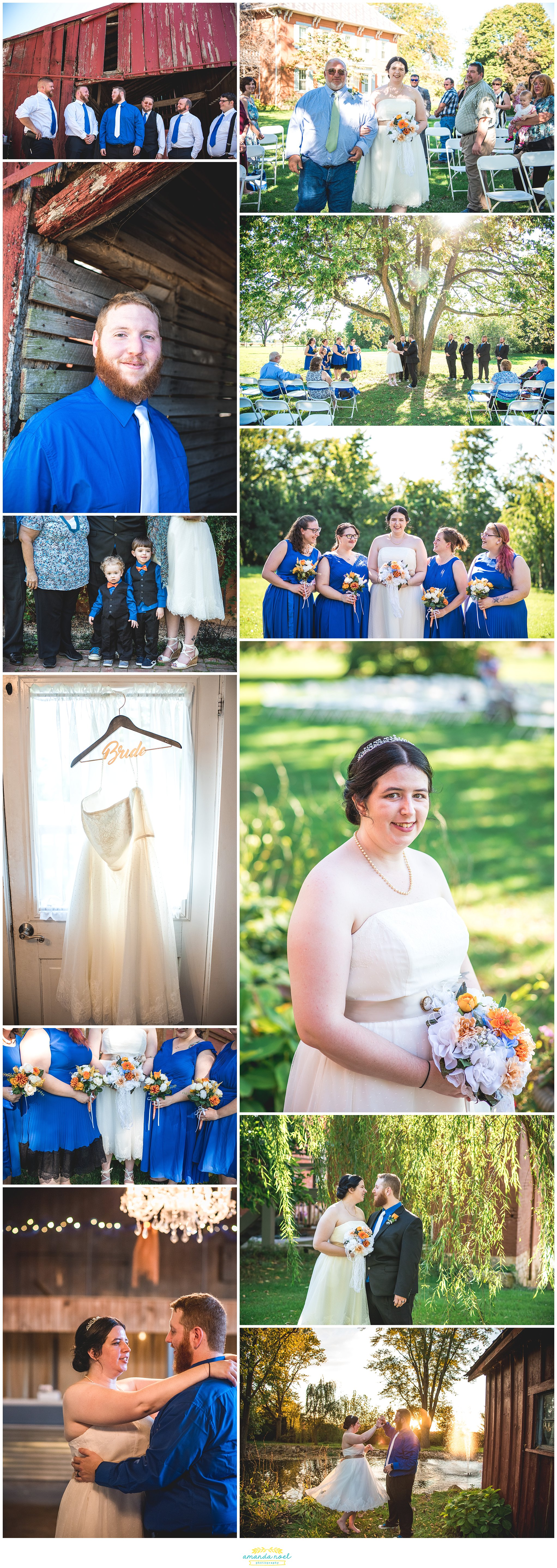 Tipp City Ohio outdoor wedding at The Willow Tree