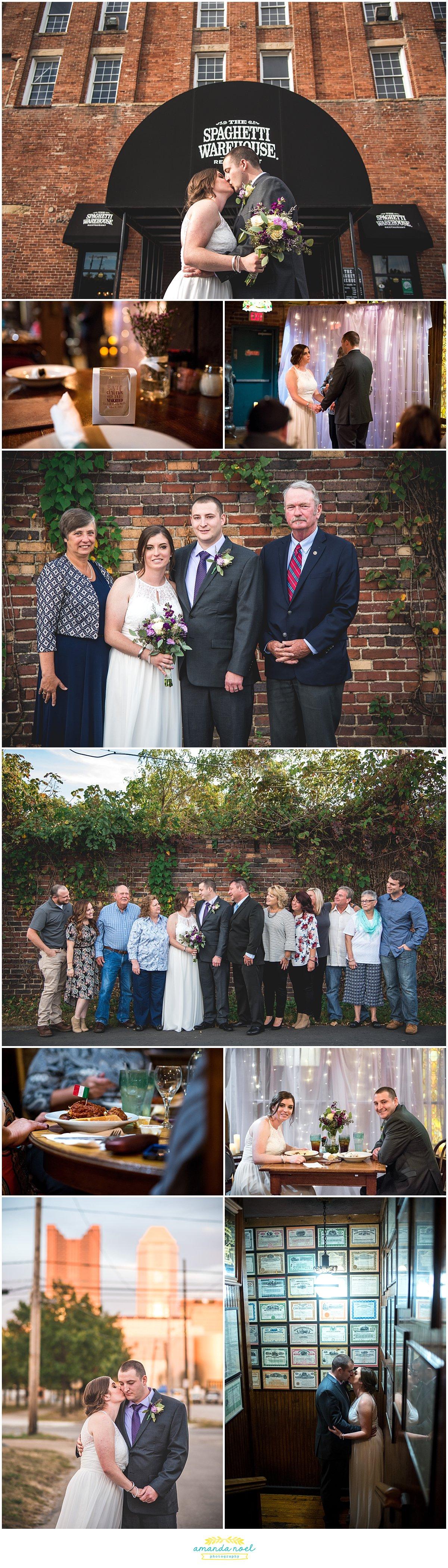 Columbus Ohio Wedding Photographer | The Spaghetti Warehouse