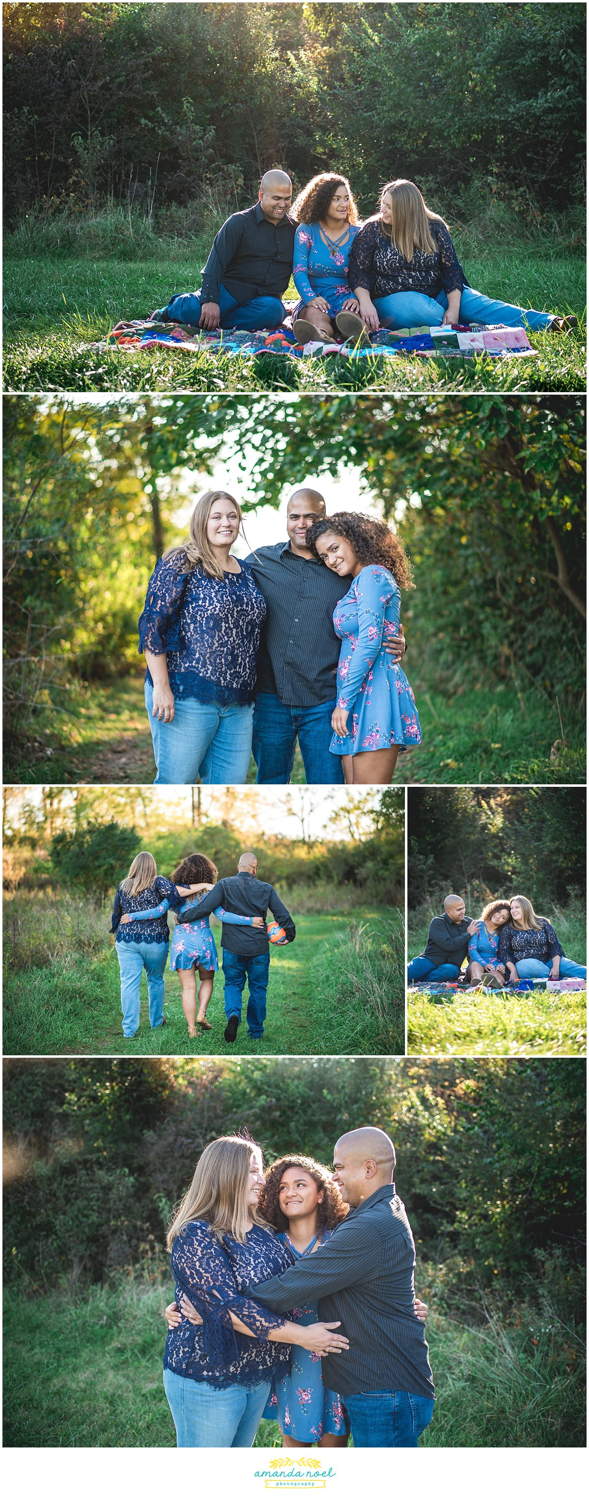Columbus Ohio family photographer | Amanda Noel Photography | session with teen daughter in the woods