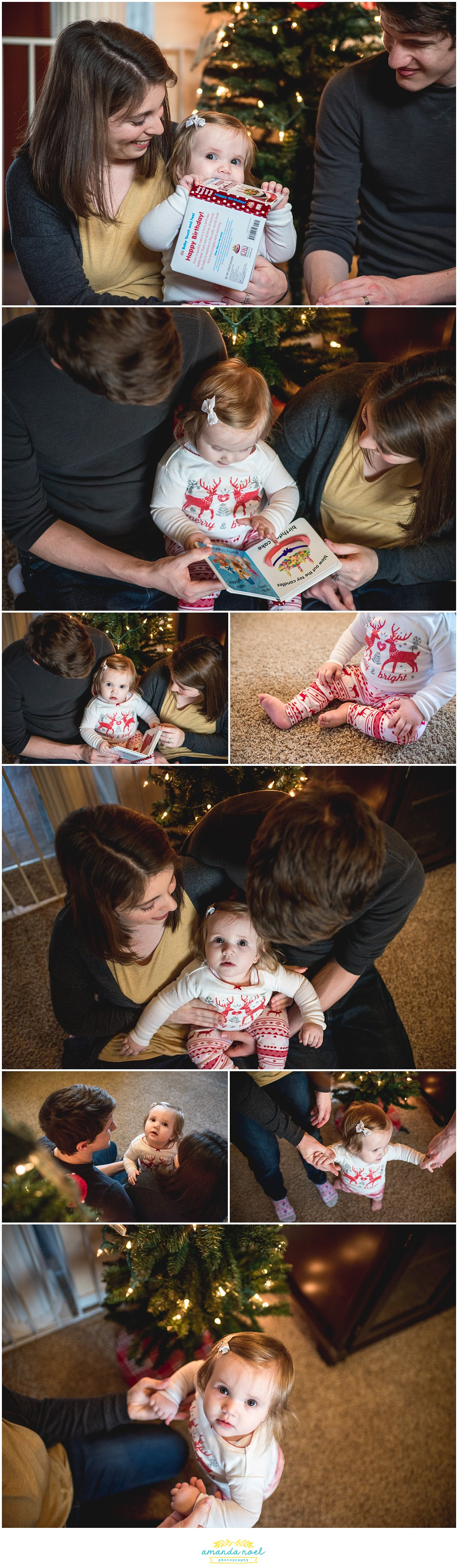 Columbus Ohio family photographer | one year Christmas in home session