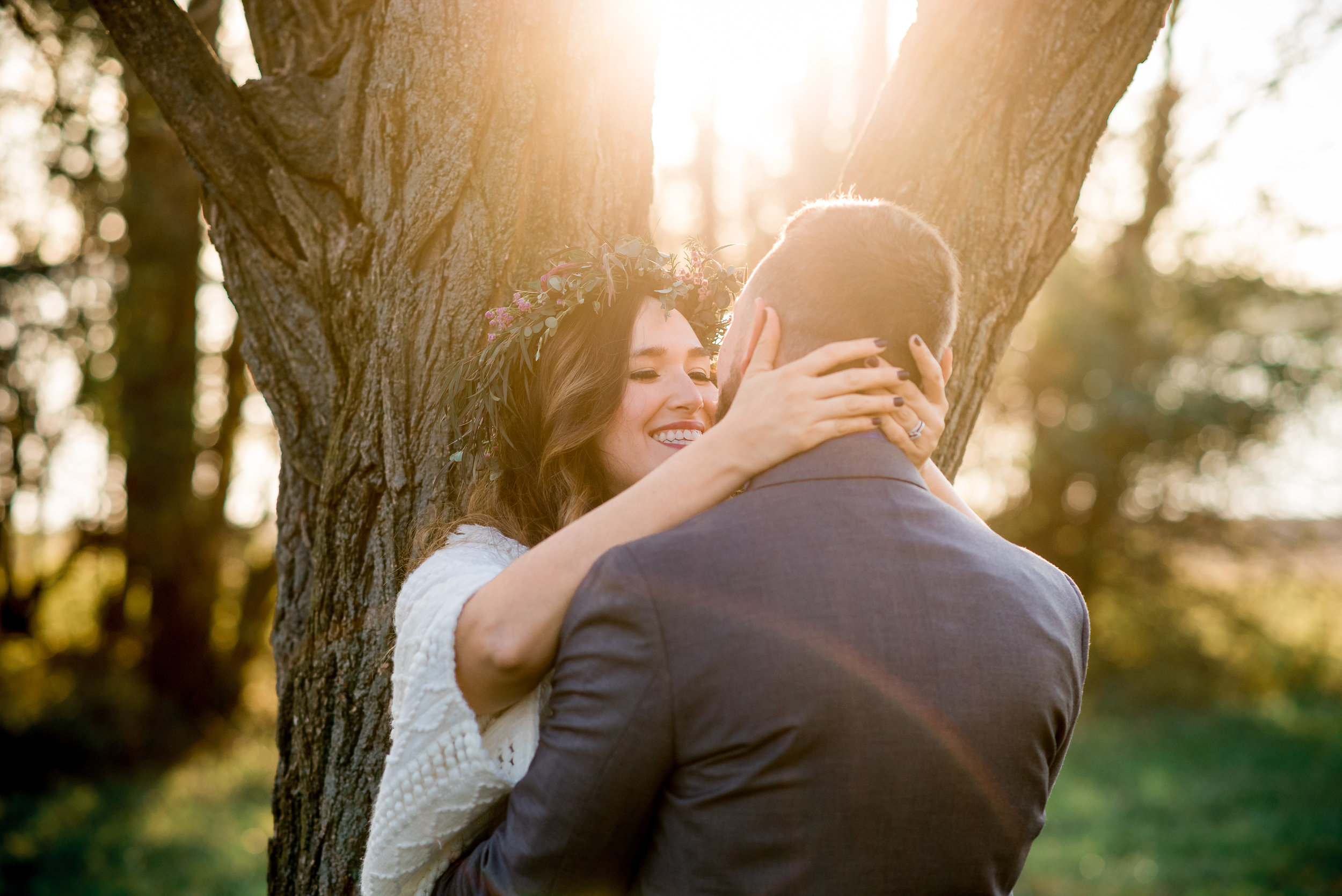 Columbus Ohio Wedding Photographer | Elopement in the woods