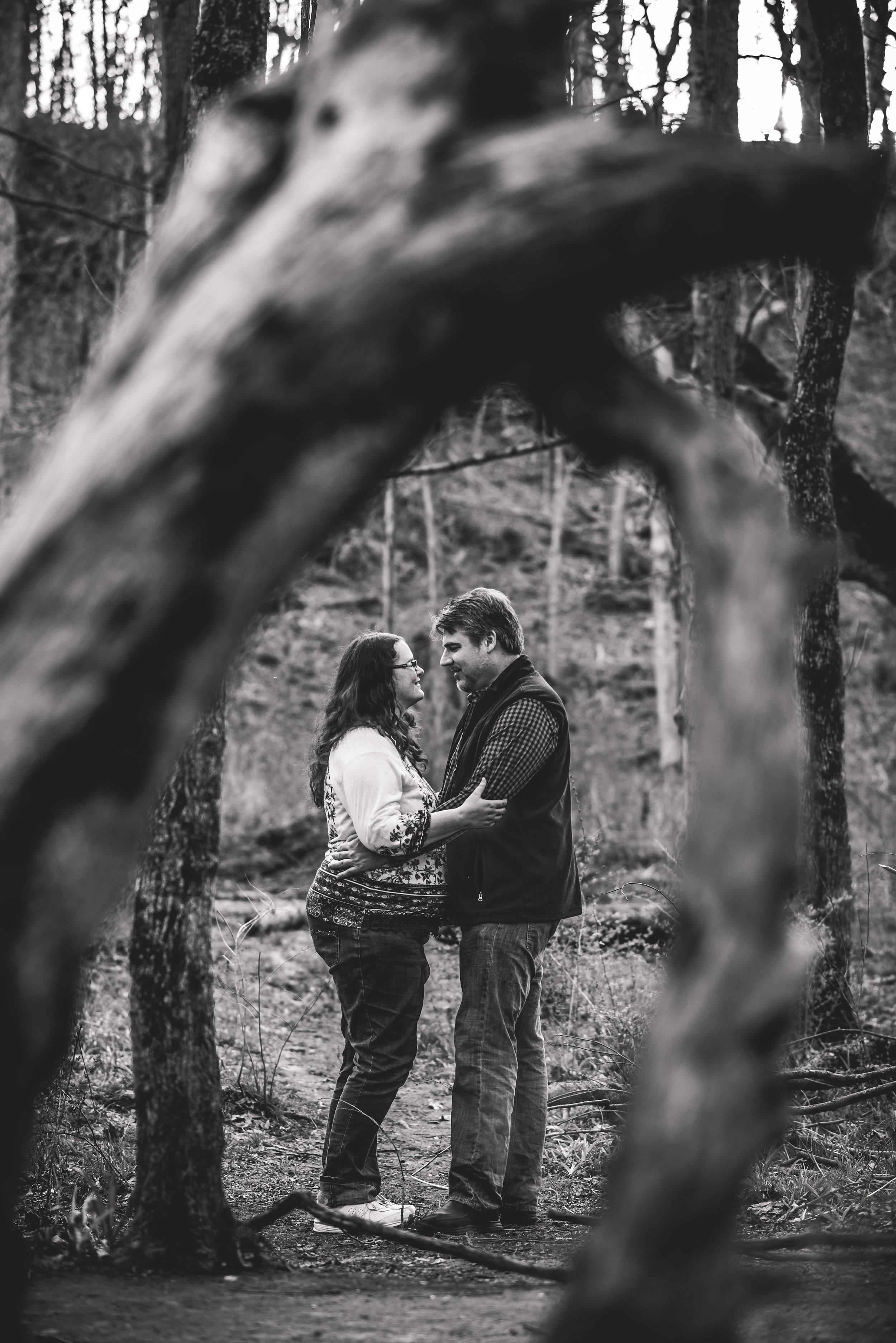 Yellow Springs wedding photographer | Spring Engagement session in Glen Helen