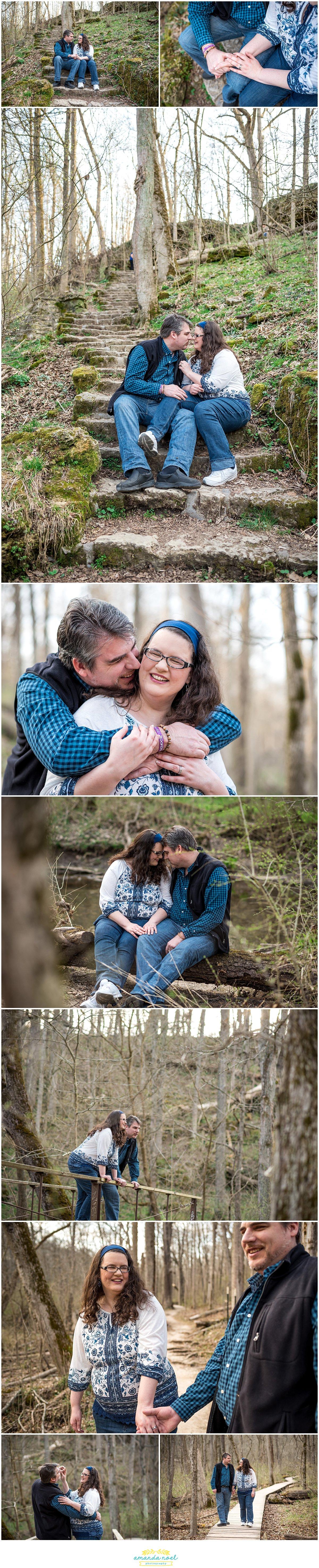 Dayton Wedding photographer | spring engagement in Glen Helen | Amanda Noel Photography