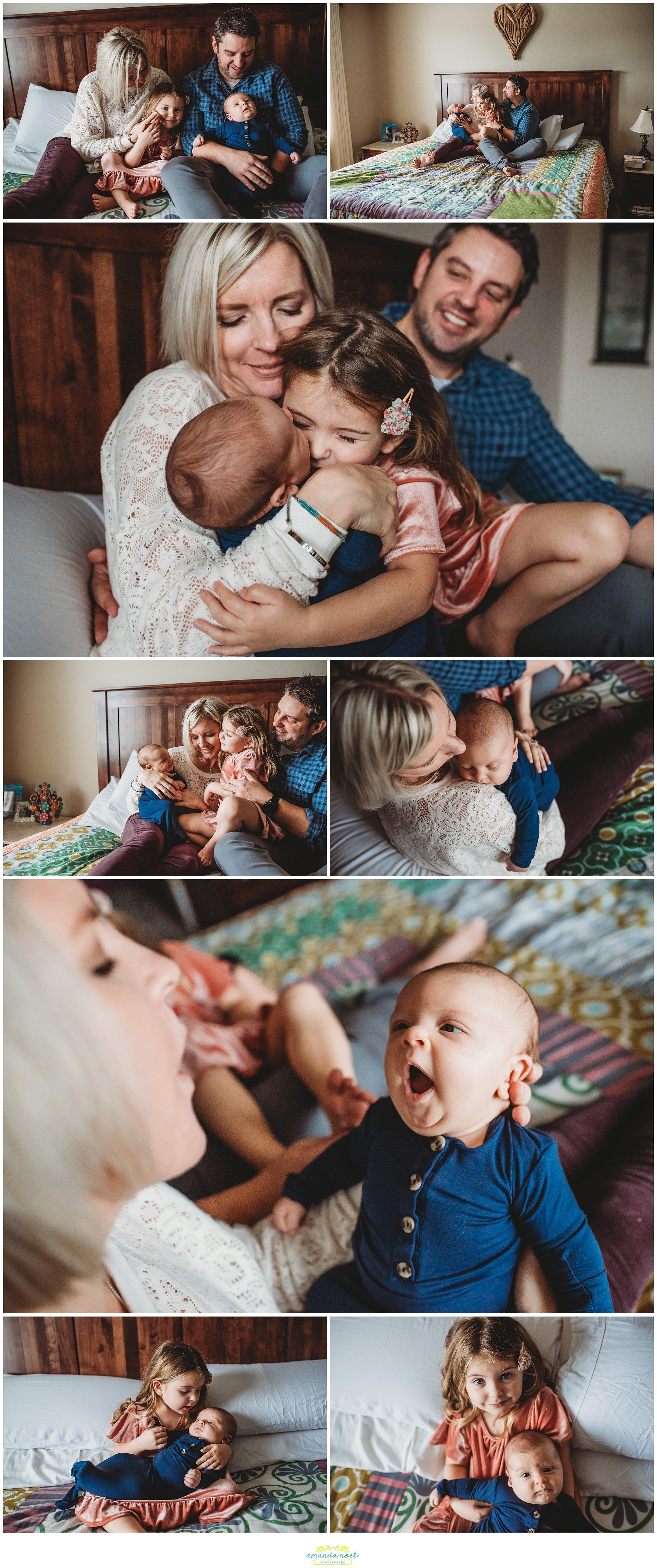 Springboro Ohio Newborn Photographer | Amanda Noel Photography | cozy in home session with big sister