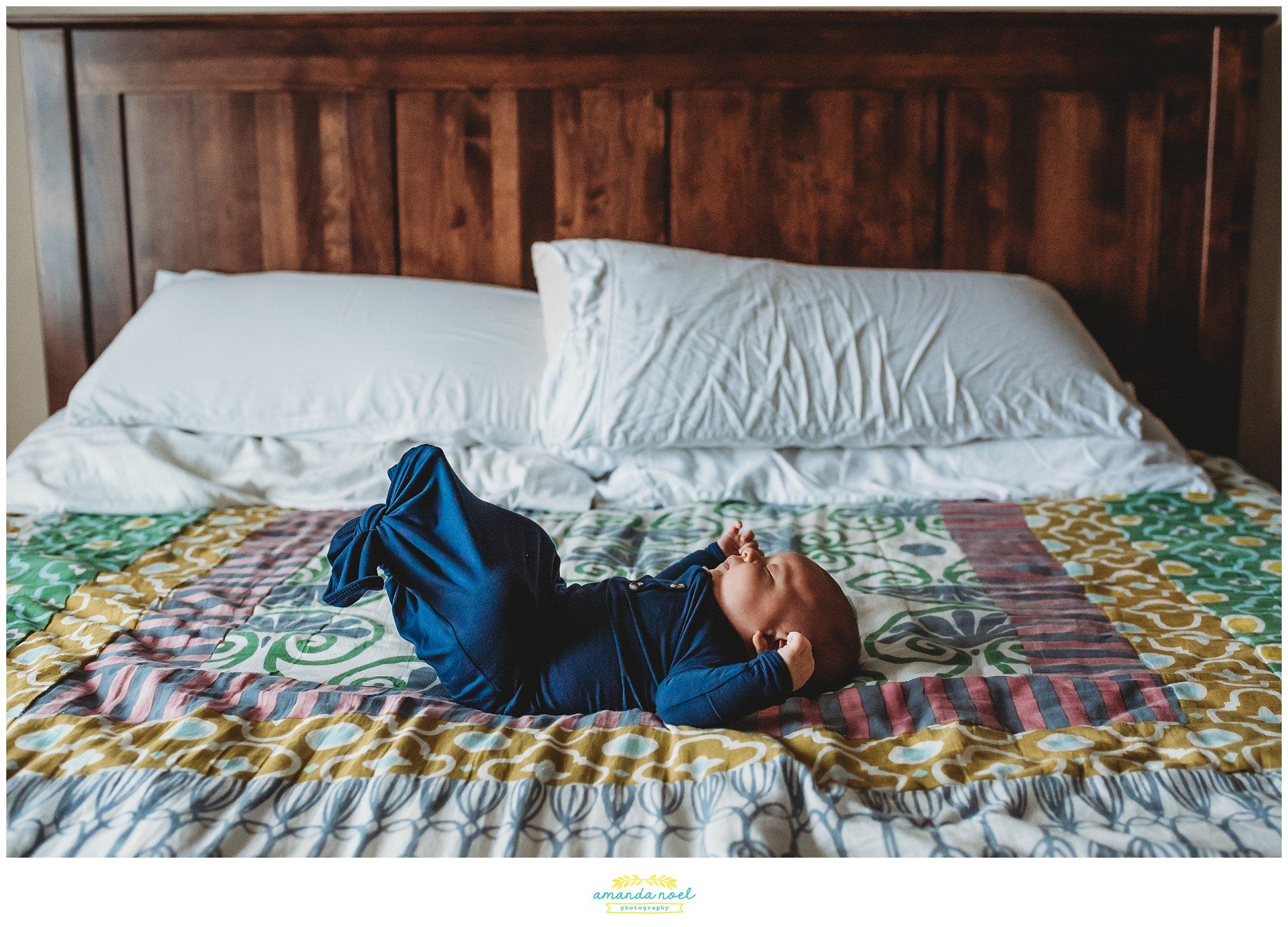 Dayton Ohio Newborn Photographer | Amanda Noel Photography | cozy in home baby boy newborn session