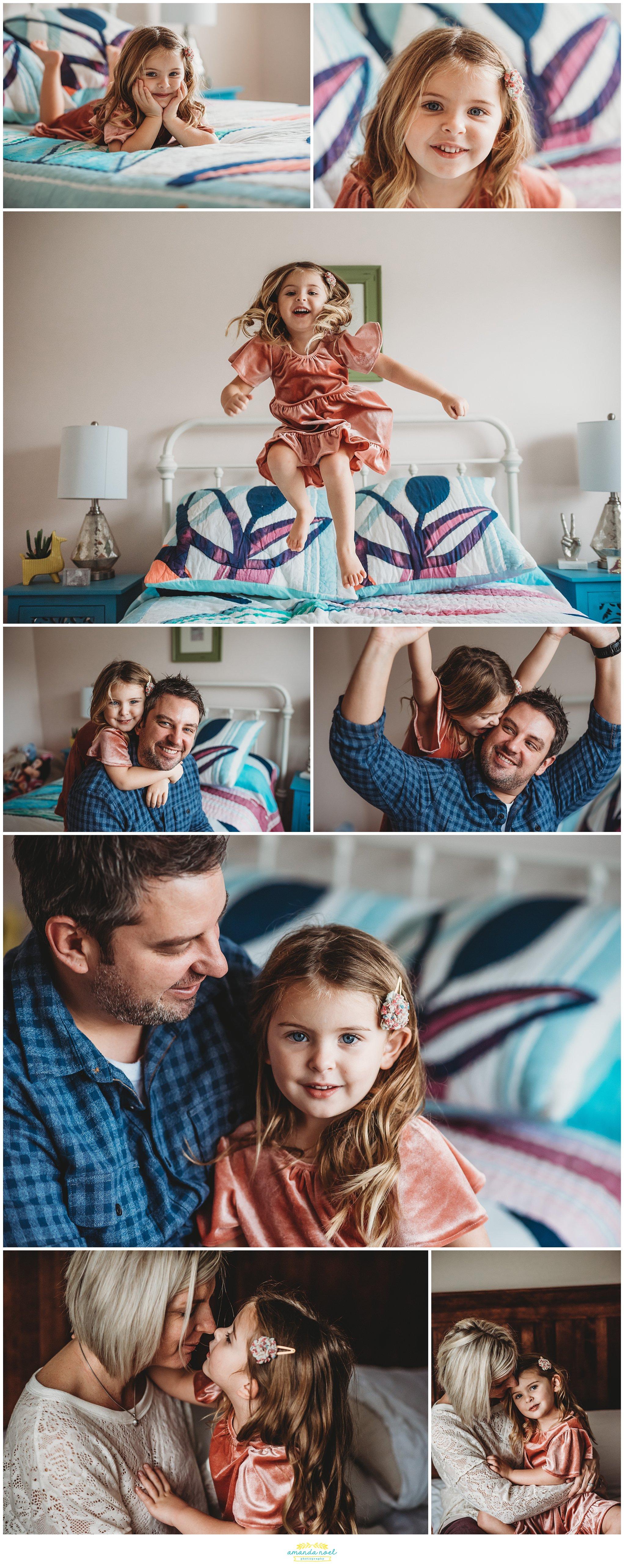 Springboro Ohio Family Photographer | Amanda Noel Photography | in home lifestyle photo session