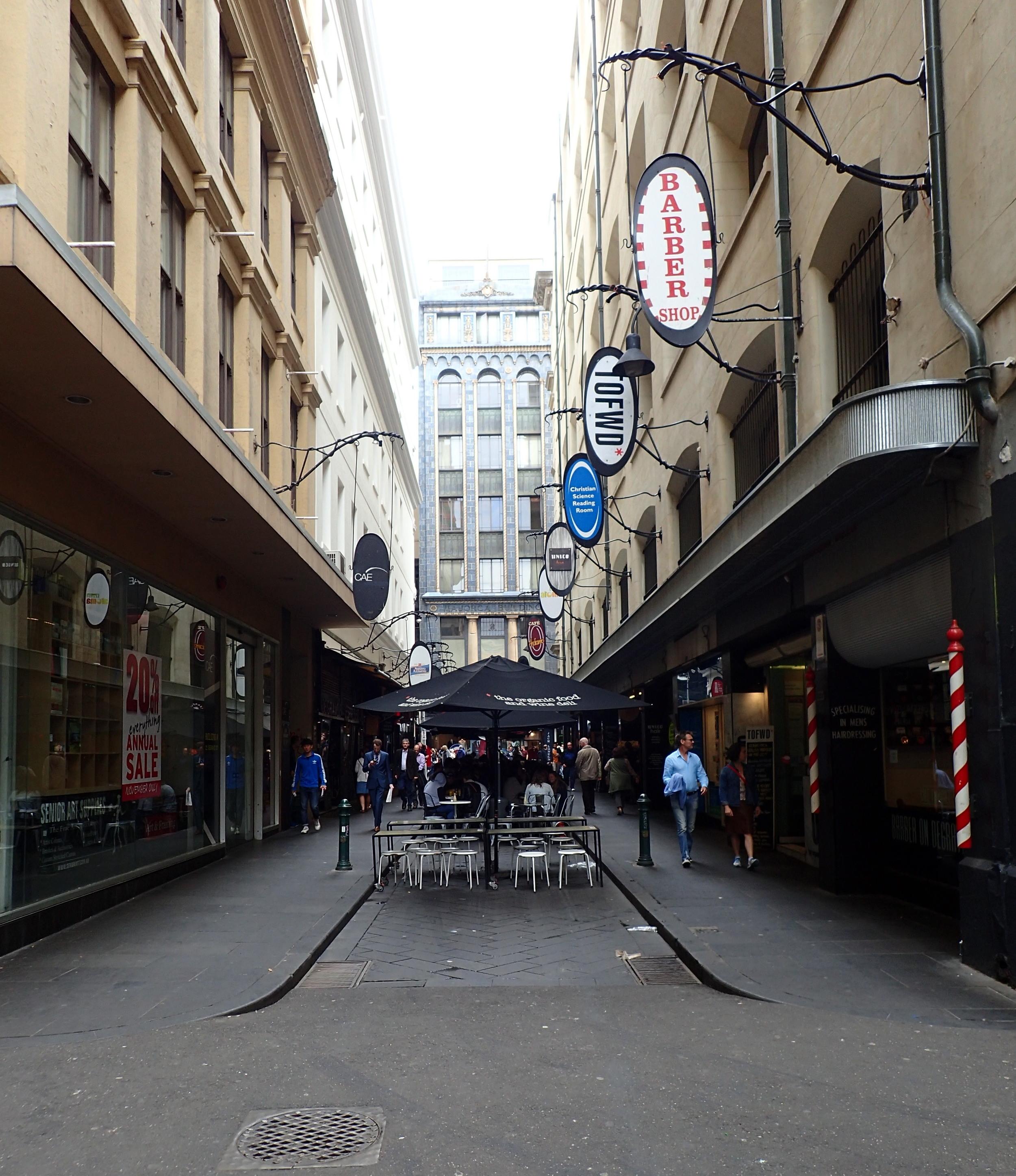 Swanky Melbourne side street.