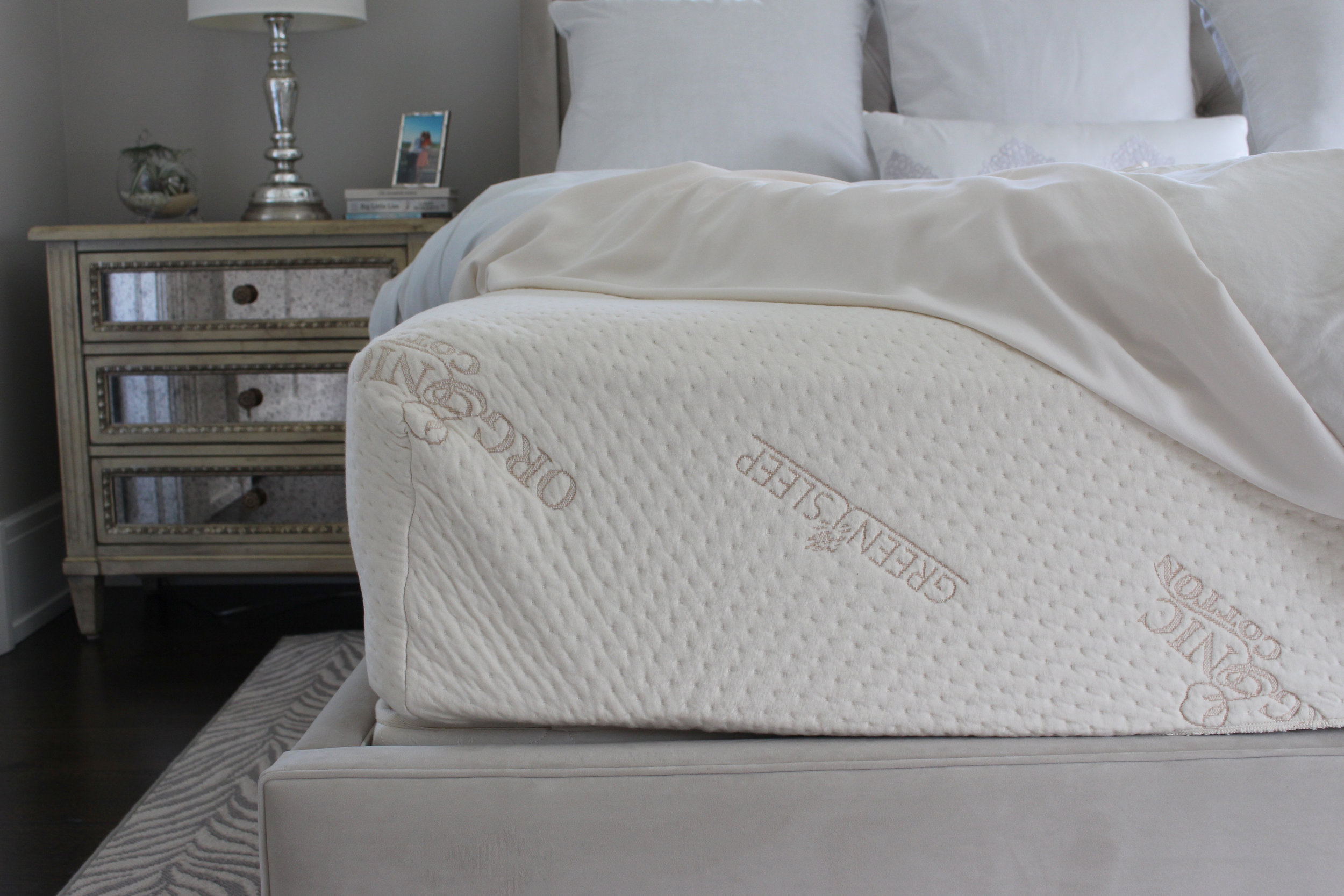We kept the original Green Sleep organic cotton mattress cover and used it on our Naturepedic mattress.