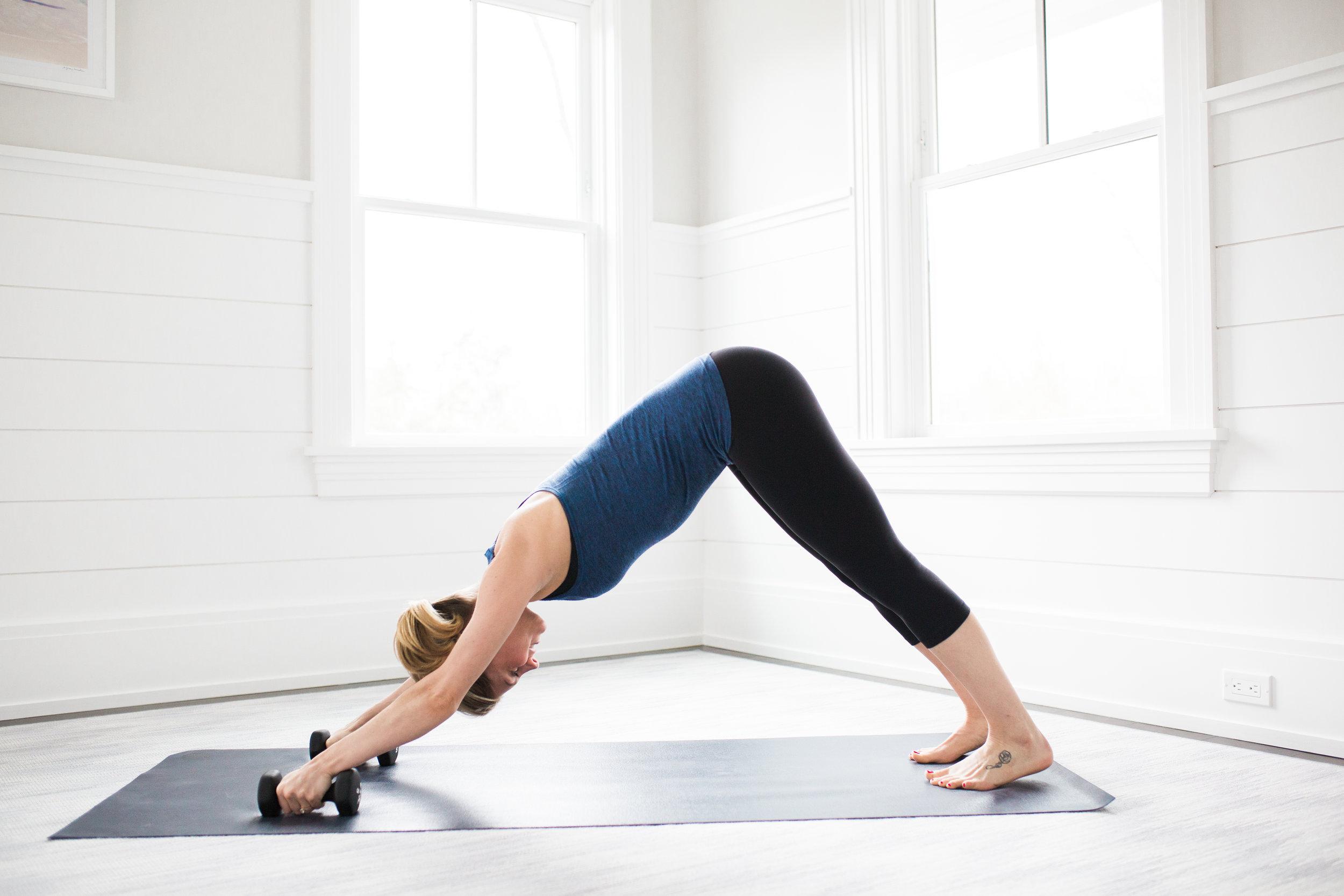 Toning Yoga Moves Plank Rolls