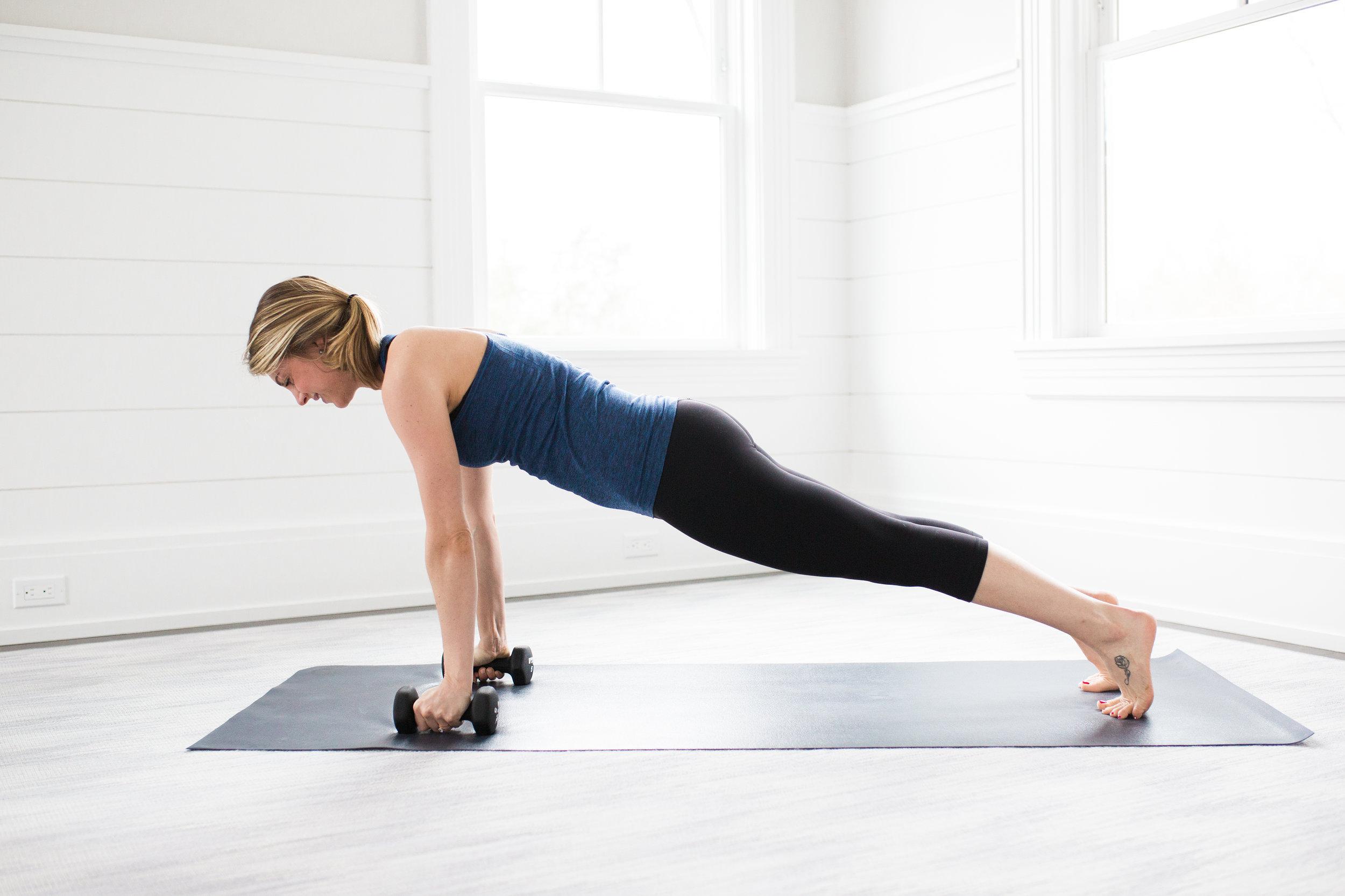 Toning Yoga Moves Plank Pose