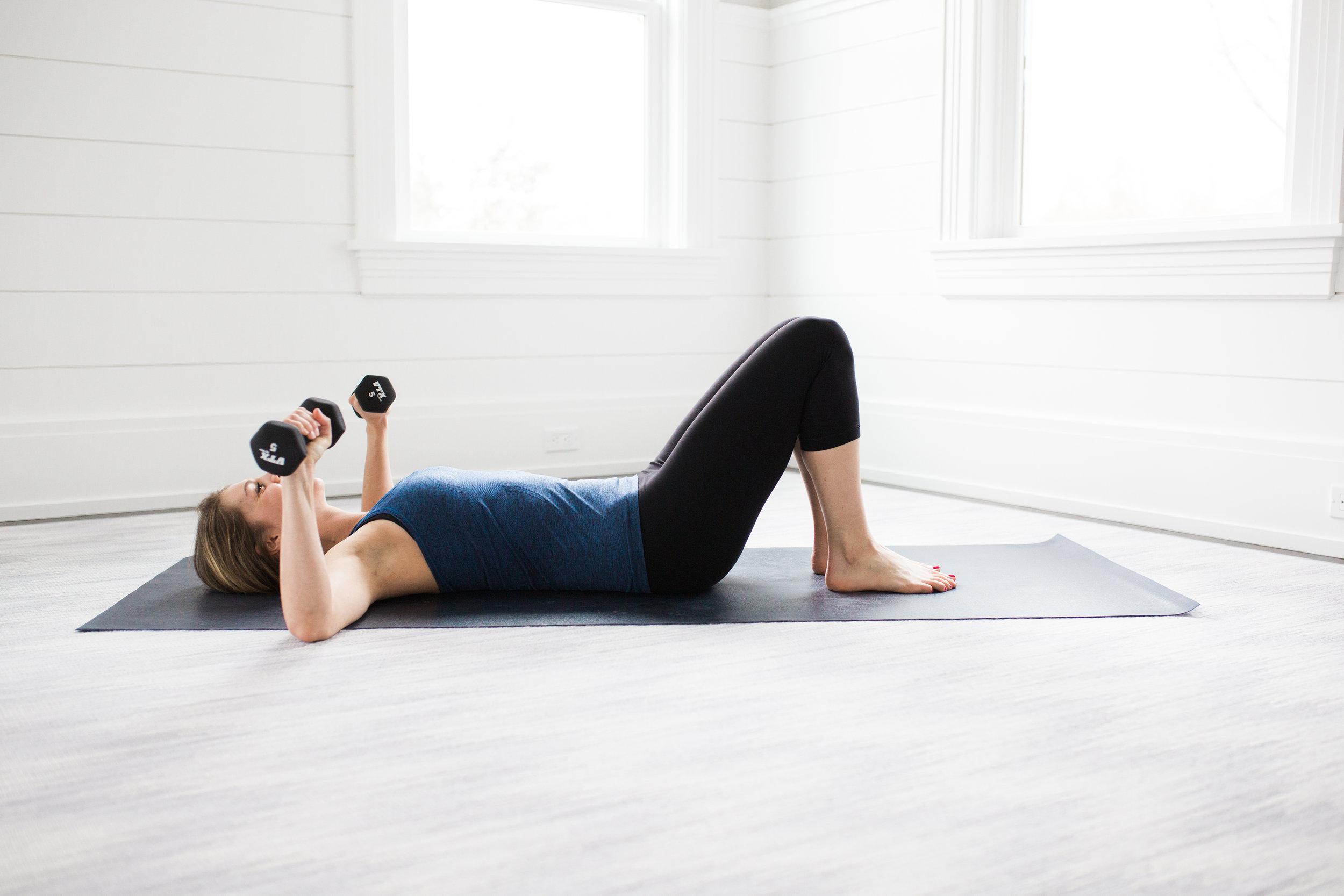 Toning Yoga Moves Bridge Pose