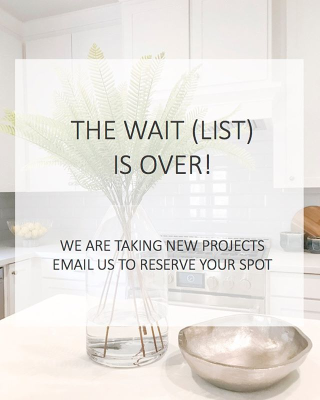 Hooray! We are so excited to be accepting new projects and can't wait to start transforming your home. Please email tammytrylko@gmail.com to schedule a complimentary consultation.