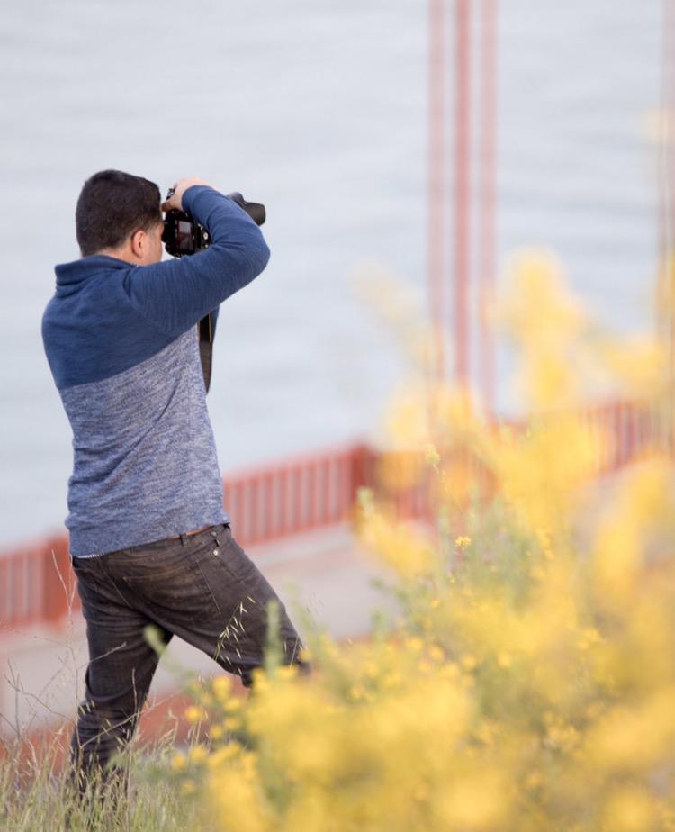 Shooting at the Golden Gate Bridge.