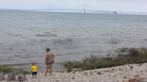 """Michigan is known as """"The Great Lake State"""" with 4 out of 5 Great Lakes bordering its peninsulas. Michigan has the longest freshwater shoreline in the world and the third longest suspension bridge in the United States with Mackinac Bridge connecting the lower and upper peninsula."""