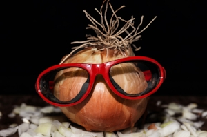 Crying over cutting onions? Tired of wearing goggles in the kitchen? Fun fact... Toss that onion in the refrigerator instead of leaving it on the counter top, the cool air suppresses the chemicals in the onion that gets us all teared up.