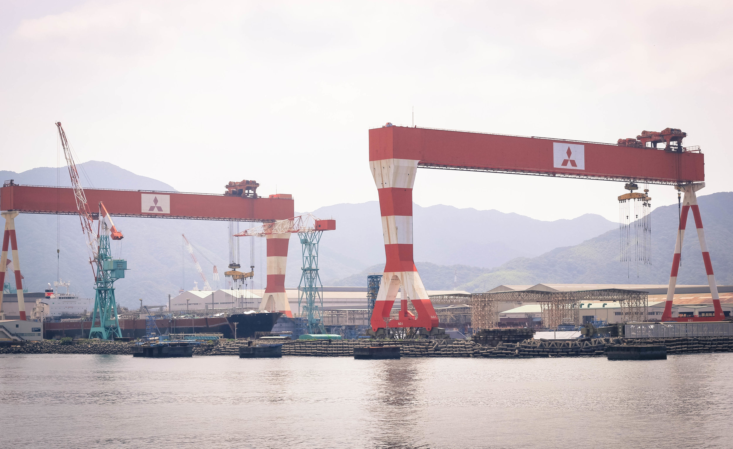 There is a large Mitsubishi presence in Nagasaki and the plant has a very interesting history, developed as Japan's first warship repair facility in the mid 19th century.