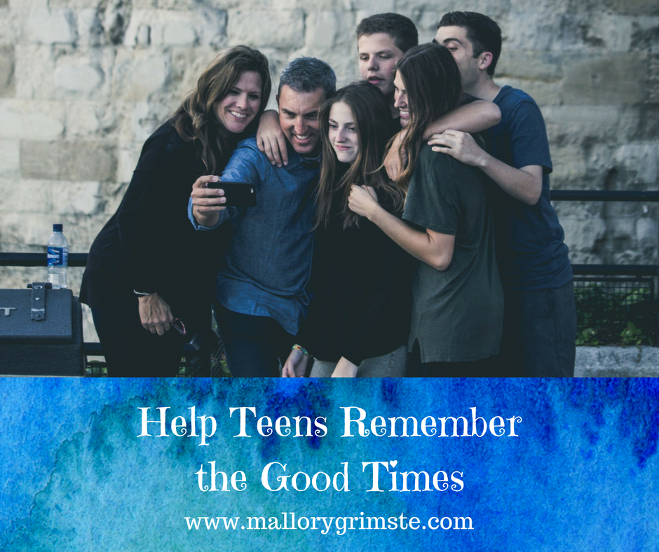 help teens remember the good times teen therapist Mallory Grimste LCSW in Woodbridge CT
