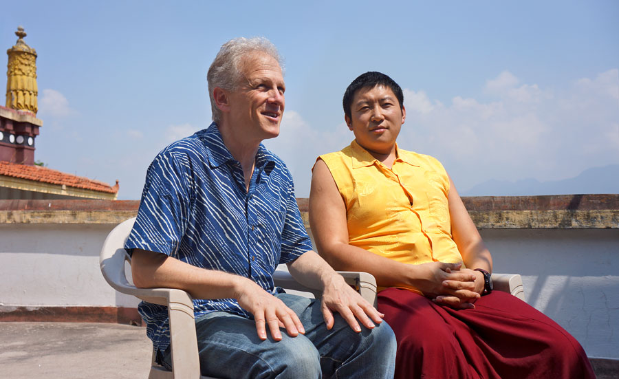 Erric Solomon with Phakchok Rinpoche, Kathmandu, May 2016