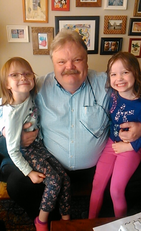 Barry Boyce and grand daughters