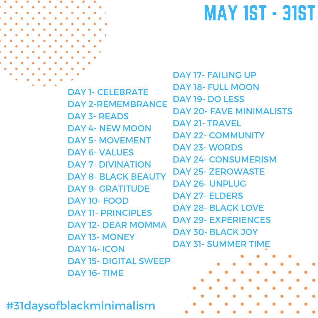 31daysofblackminimalismchallengedays