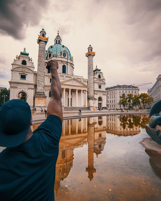 """I find strength in reflection. Reflection motivates me.  Ummm let me think... Reflection makes you REFLECT. With that said, I hope I said the word """"reflection"""" enough for you to notice the reflection in the picture and also take a second to do some inward thinking.  #Reflection #reflect #Vienna #austria #🇦🇹 #philtheculture #philgoodtravel"""