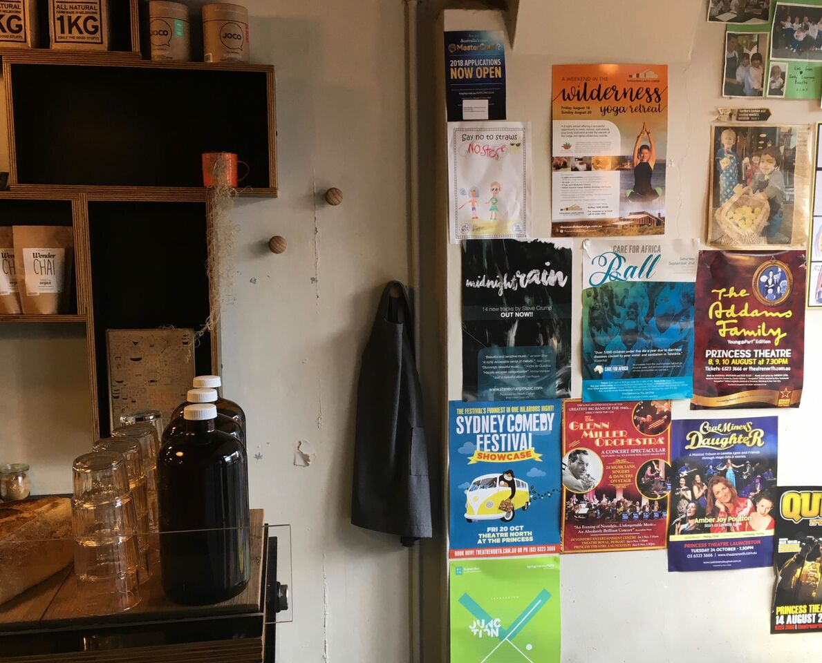 Sweet Brew Cafe, Launceston.