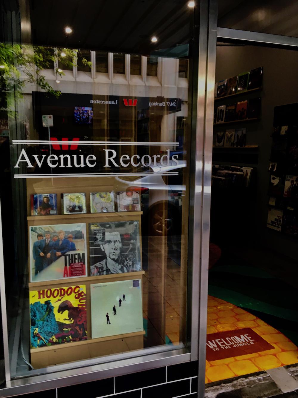 Avenue Records, Launceston.