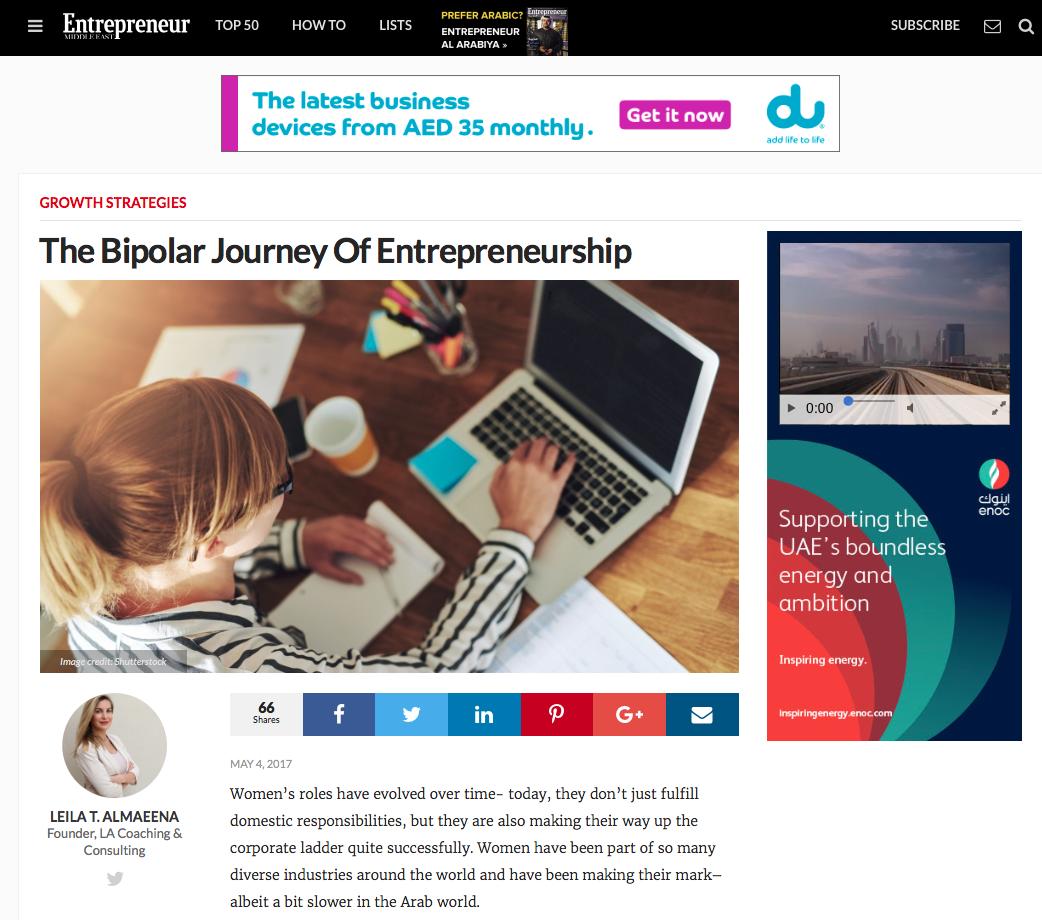 Published at theEntrepreneur Website -