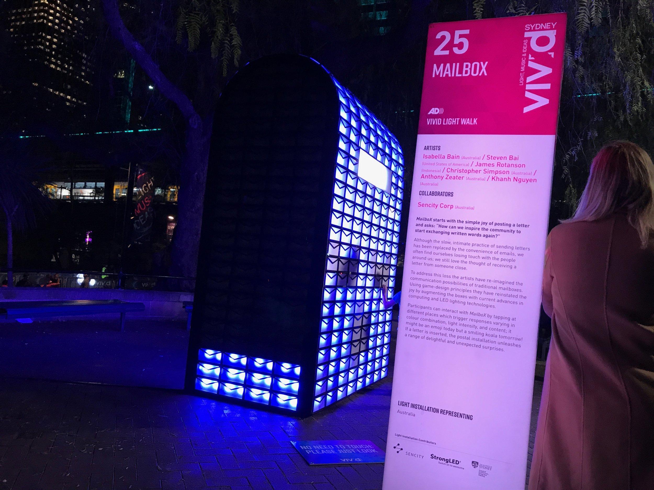 Sencity - MailboX - Vivid Sydney