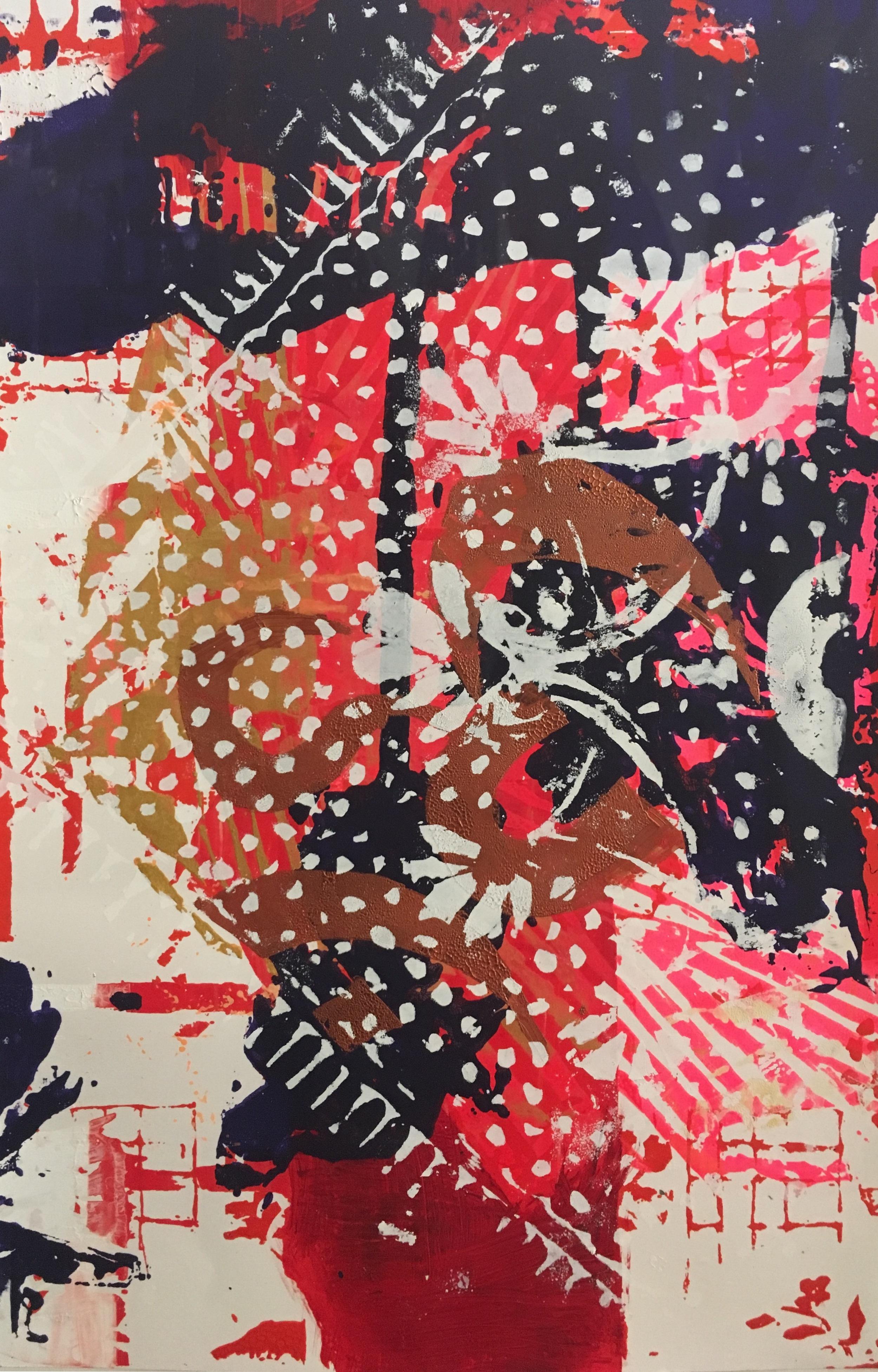 (SOLD) ''Glyph Shift'' 52 x 38 cm