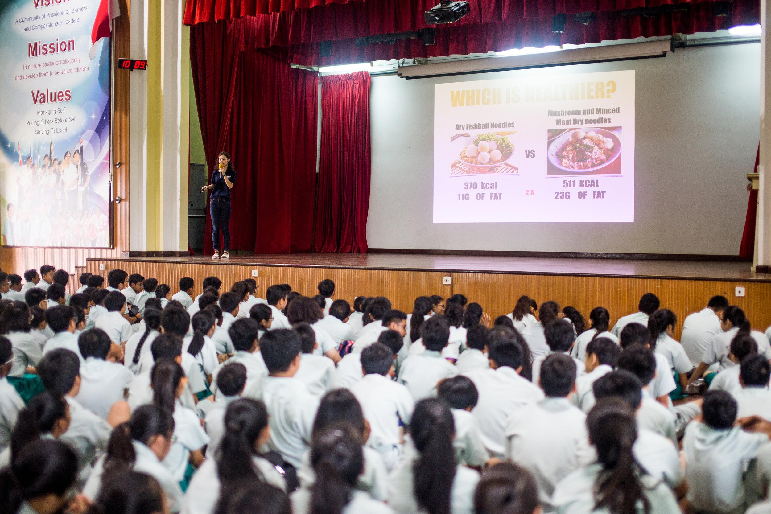 Metabolic Syndrome Talk at Choa Chu Kang Secondary