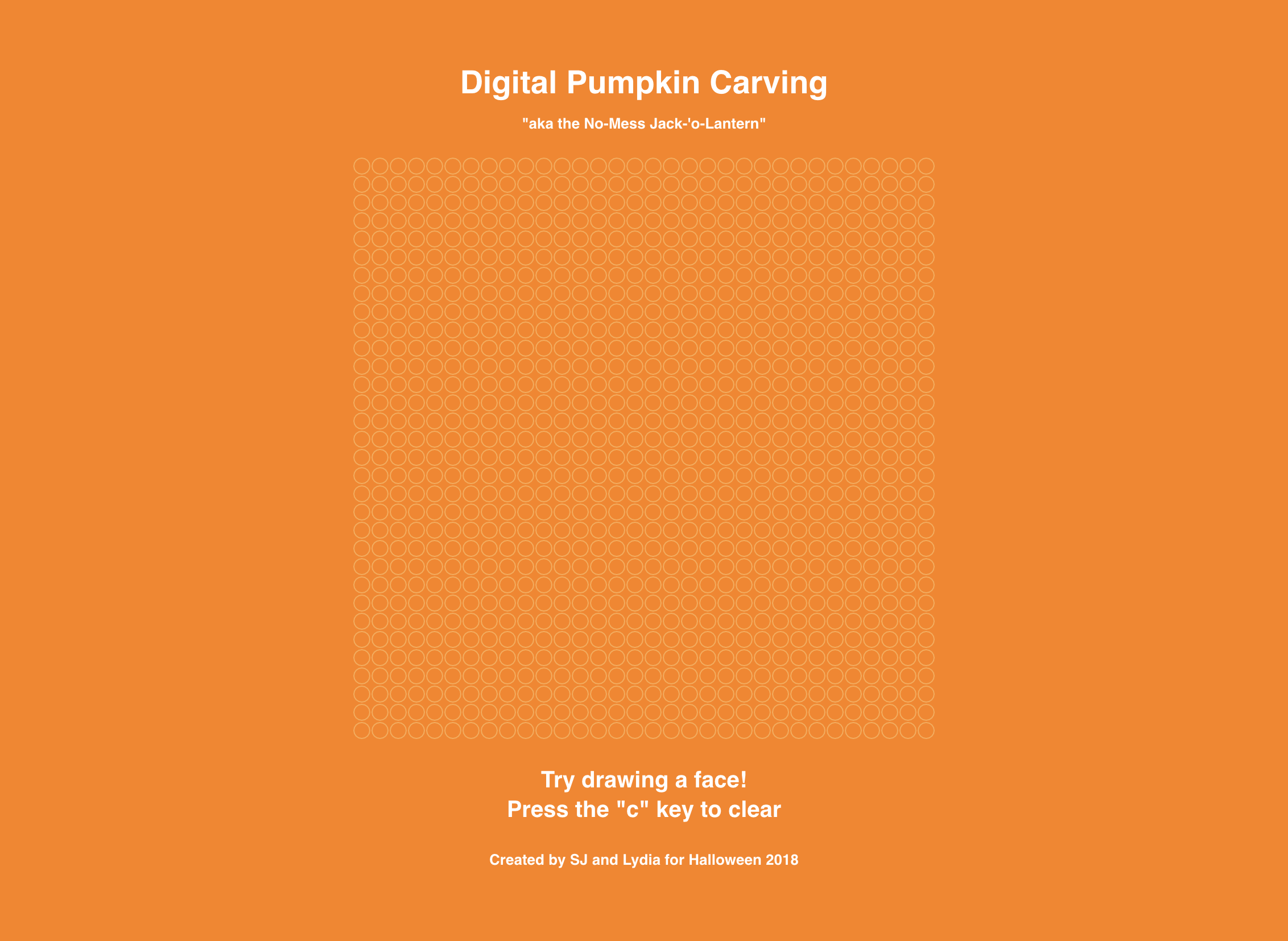 Digital Pumpkin Carving - A physical computing project that let you draw with mouse and see live projection on an LED matrix.