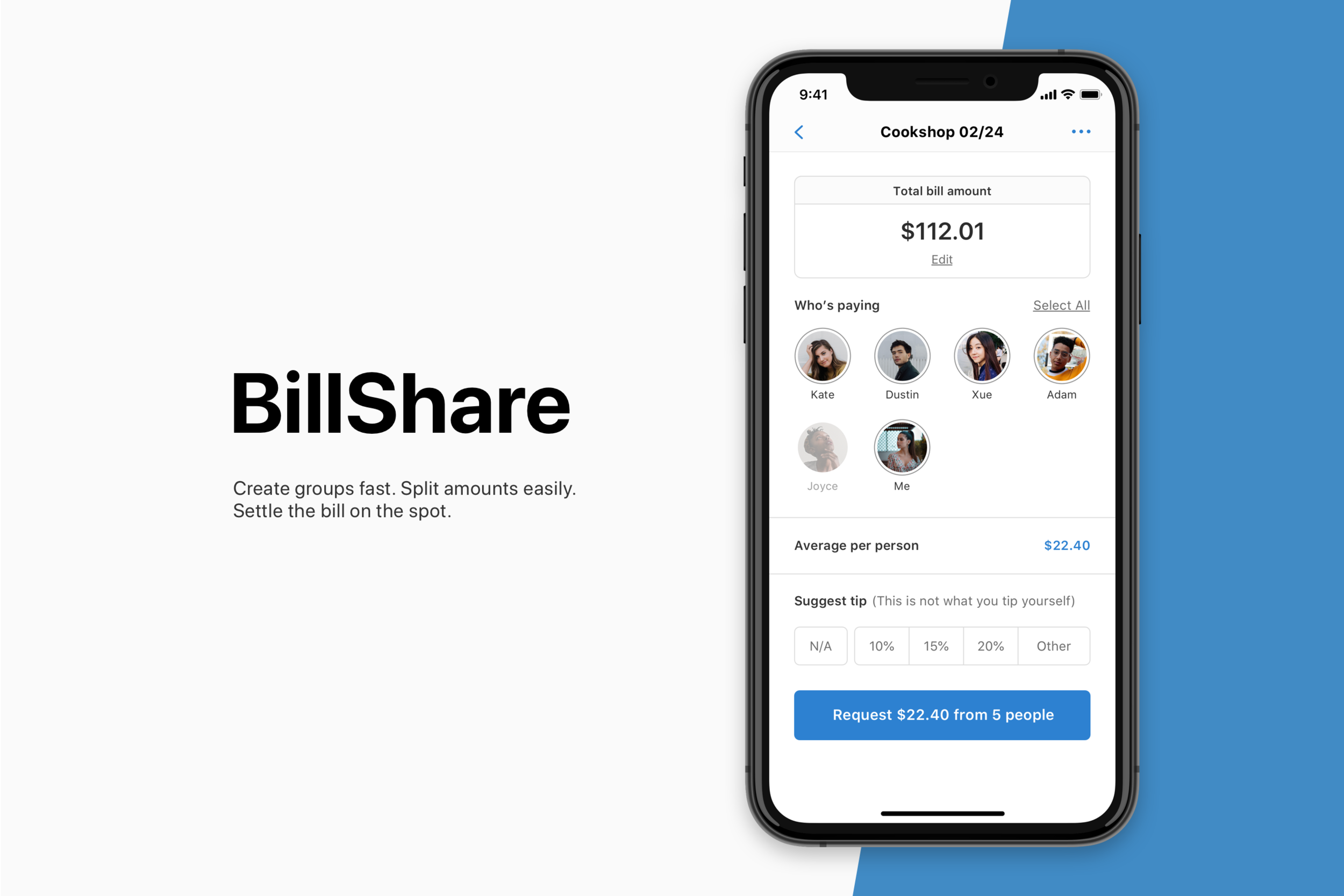 BillShare - Four-day design challenge: a bill splitter that lets people tip separatelyCase Study